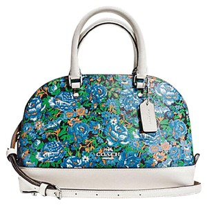 Coach Sierra Satchel in SILVER/BLUE MULTI
