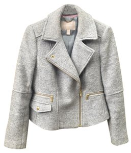 Banana Republic Boiled Wool Wool Moto Motorcycle Jacket