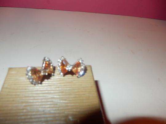 Other beautiful peach morganite PERICED EARRINGS AND RING SET,,,SZ 7 NEW! Image 3
