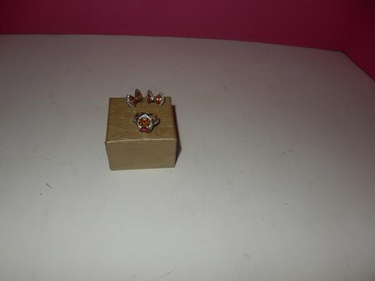 Other beautiful peach morganite PERICED EARRINGS AND RING SET,,,SZ 7 NEW! Image 4