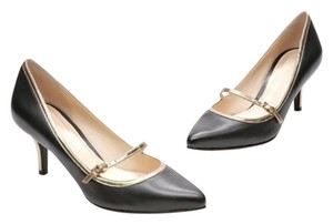 Cole Haan Buckle Gold Mary Jane Black/gold Pumps