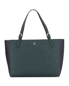 Tory Burch Tote in Dark Green and Navy