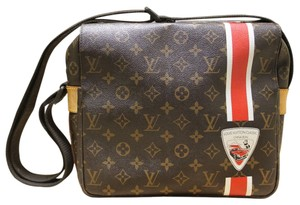 Louis Vuitton Rare China Run Naviglio Messenger Monogram Canvas Messenger China Run brown, red, white Messenger Bag