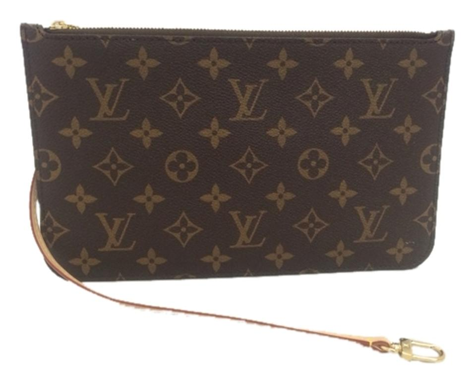 Louis Vuitton Neverfull Mm Or Gm Monogram Wallet Wristlet Pouch