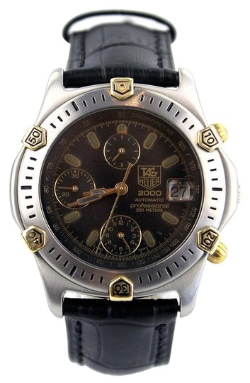 Tag heuer 2000 automatic chronograph divers watch 66 off retail for Tag heuer divers watch