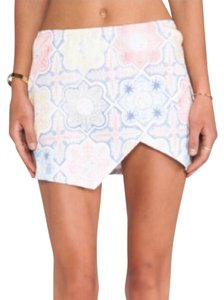 For Love & Lemons Mini Mini Skirt Pink, White, and Blue