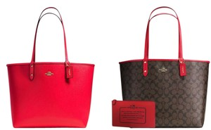 Coach Tote in Red or Brown