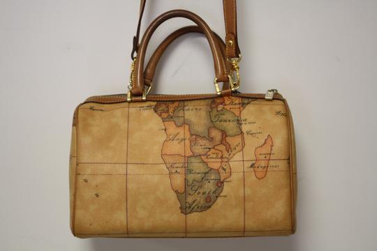 Alviero martini 1a prima class handbag browns leather satchel tradesy alviero martini 1a prima prima class handbag map leather geo globe dust italy satchel in browns gumiabroncs Image collections