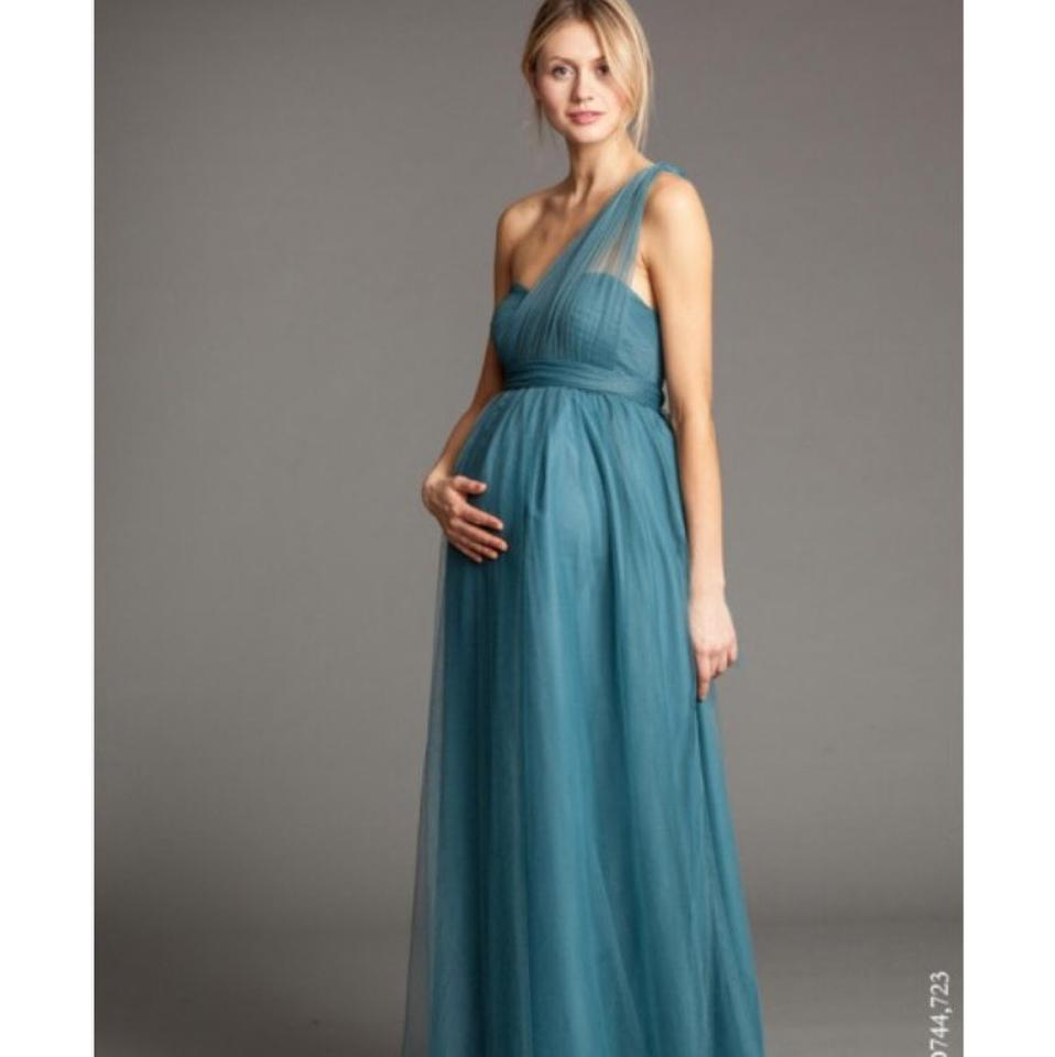 d1674ee2850 Jenny Yoo Blush Tulle Serafina Maternity Gown Formal Bridesmaid Mob Dress