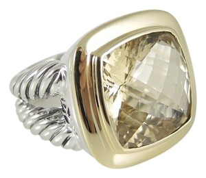 David Yurman David Yurman Sterling Silver 18K 14mm Champagne Citrine Albion Ring