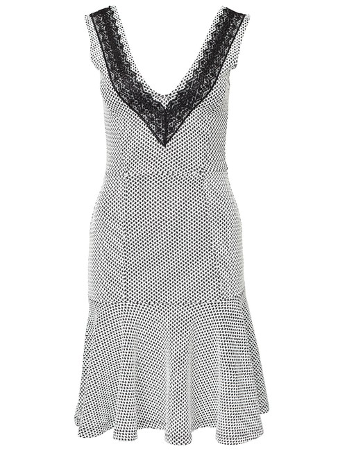 French Connection Textured Sleeveless V-neck Evening Bodycon Dress