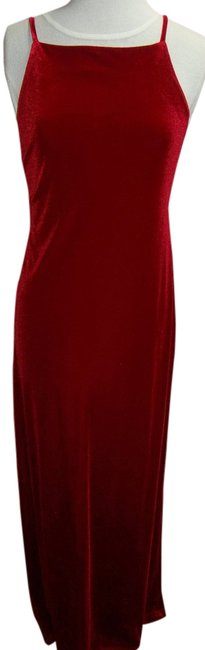 Maurices Special Occasion Long Length Spaghetti Strap Velvet Prom A Line Design Dress