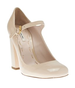 Miu Miu Mary Janes Beige Pumps