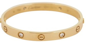 Cartier Cartier Love Bracelet Yellow Gold 4 Diamond Size 18