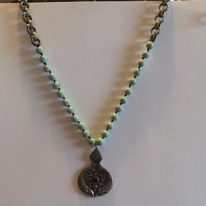 Lucky Brand Lucky Brand Turquoise Beads and Silver Medallion