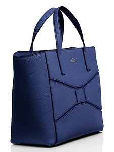 Kate Spade Leather Bridge Place Tote in FRENCH NAVY