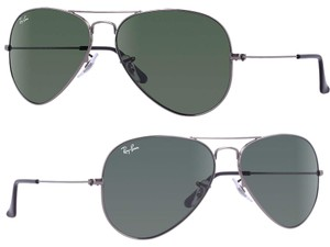 Ray-Ban NEW Ray Ban RB3025 W0879 58-14 Green Classic G-15 Gunmetal Sunglasses