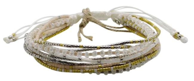 Item - White Multi Seed Bead Strand Friendship Bracelet