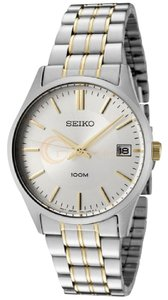 Seiko SGEF03 Men Silver Dial Stainless Steel Watch