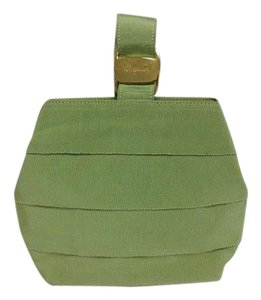Salvatore Ferragamo Wristlet in Apple green