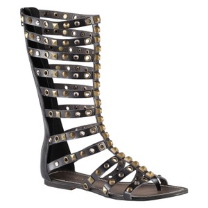ALDO Gladiator Studded Boots Black Sandals