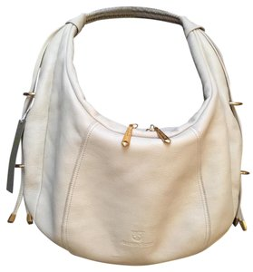 Allison Scott by Stone Mountain Leather Gold Hardware Printed Satin Lining Hobo Bag