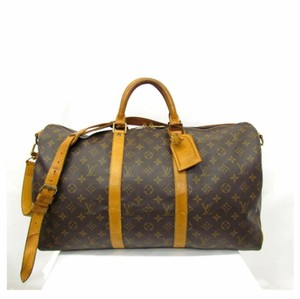 6ae17bfd151a Louis Vuitton Keepall 50 Neverfull Bandouliere Monogram Brown Travel Bag