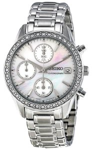 Seiko SNDY21 Two-Tone White Mother-of-Pearl Dial Women Watch