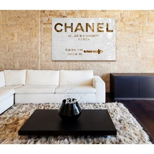 Couture Road Sign Canvas Print Oliver Gal