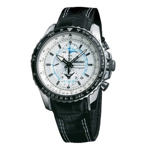 Seiko SNAF01P1 Men's Silver Analog Watch With White Dial