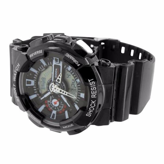 Other Shock Resistant Black Watch Digital-Analog Sports Edition Band Image 2