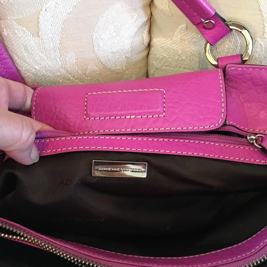 Adrienne Vittadini Satchel in Black and White & Hot Pink Leather Image 2