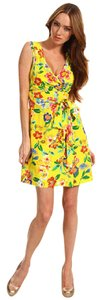 Kate Spade short dress multi-color Floral Mini Sleeveless Pleated on Tradesy