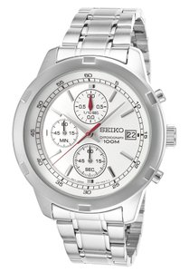 Seiko SKS417 Men's Silver Analog Watch With Silver Dial