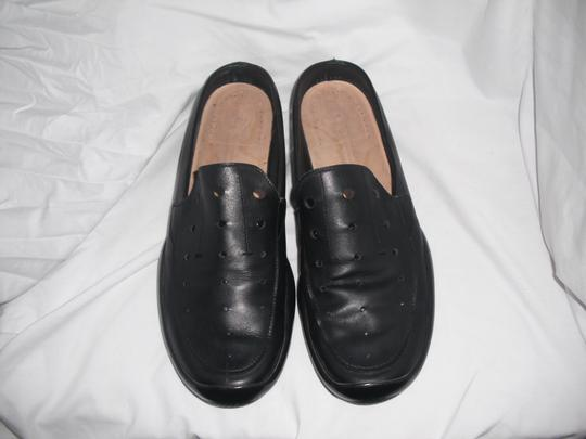 Prada Black Men's Sport Linea Rossa Leather Slip On Loafers 9 Shoes