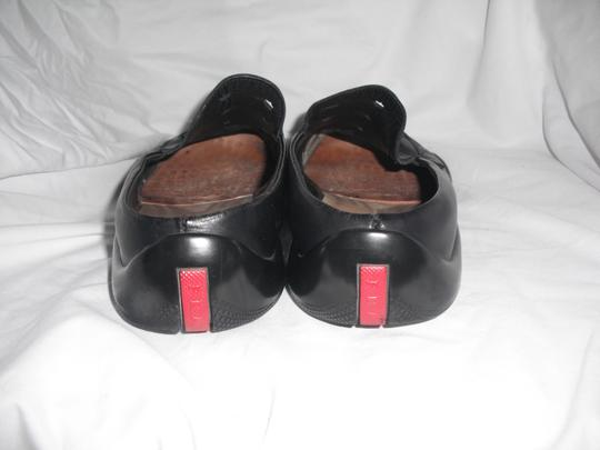 Prada Men's Prada Sport Linea Rossa Black Leather Slip On Shoes Loafers Sz 9