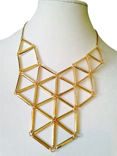 """My Closet- Embellished by Leecia Gold """"Spiders Web"""" Link Necklace"""