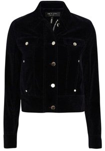 Rag & Bone Velvet Cotton Longsleeve black Jacket