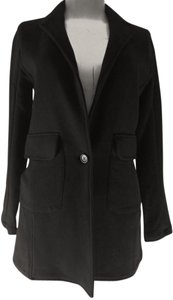 James Perse Jacket Coats Buttonup Shawl Black Blazer