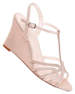 David's Bridal White Wedges