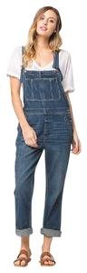 Free People Denim Boho Overalls Dress