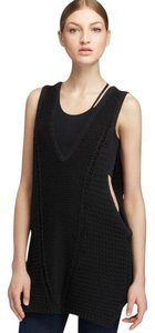 Helmut Lang Knit Vest Sweater Cable Sleeveless Top black