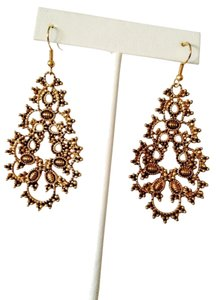 Neiman Marcus Gold Floral Garden Earrings