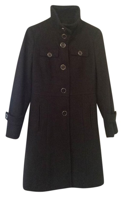 Preload https://img-static.tradesy.com/item/21083610/kenneth-cole-black-pea-coat-size-2-xs-0-2-650-650.jpg