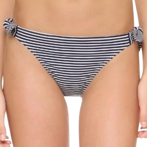 Tory Burch Stripe Tie Navy & White Bikini Bottom