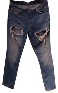 AllSaints Relaxed Fit Jeans-Distressed