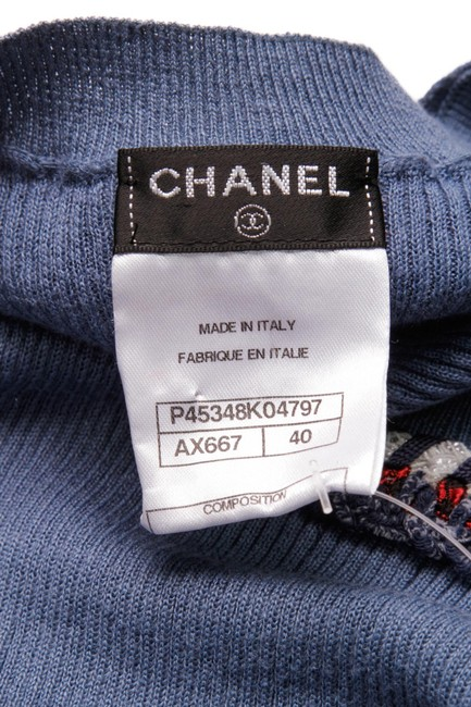 Chanel Top Blue, White, Red Image 4