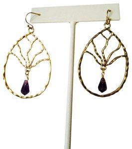 Neiman Marcus Gold Dream Catcher Amethyst Briolette