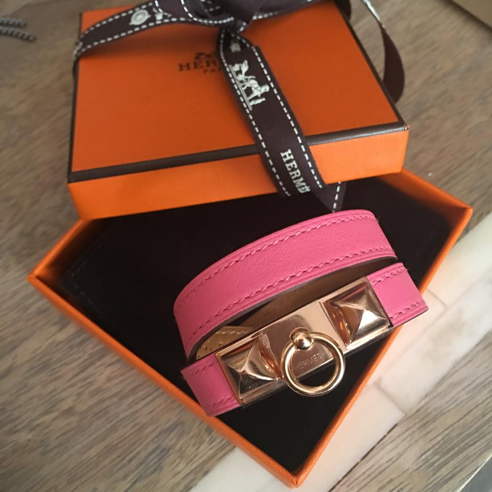 Hermes Rivale Double Tour Rose Gold
