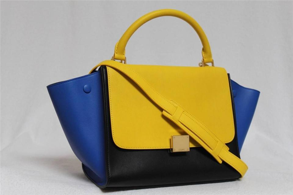 shop celine bags online - C��line New Runway Sunflower Small Trapeze Luggage Leather Tricolor ...